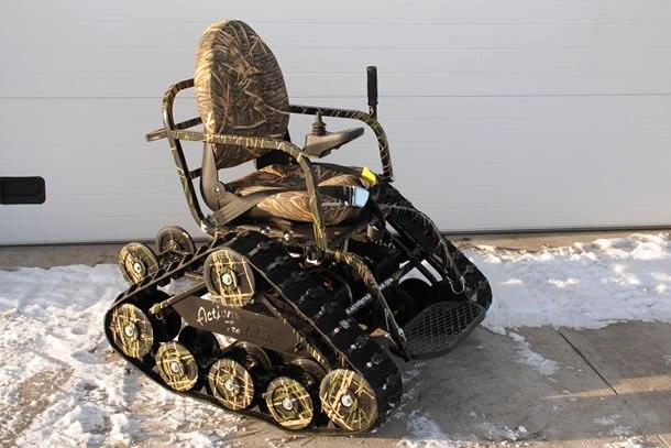 Innovazioni : La sedia a rotelle cingolata