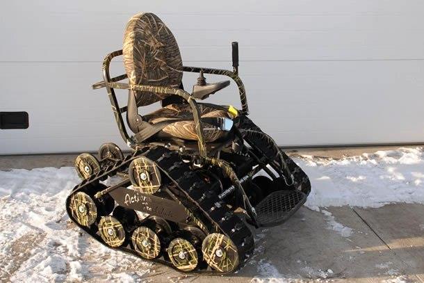 innovazioni la sedia a rotelle cingolata On cingolato per sedia a rotelle